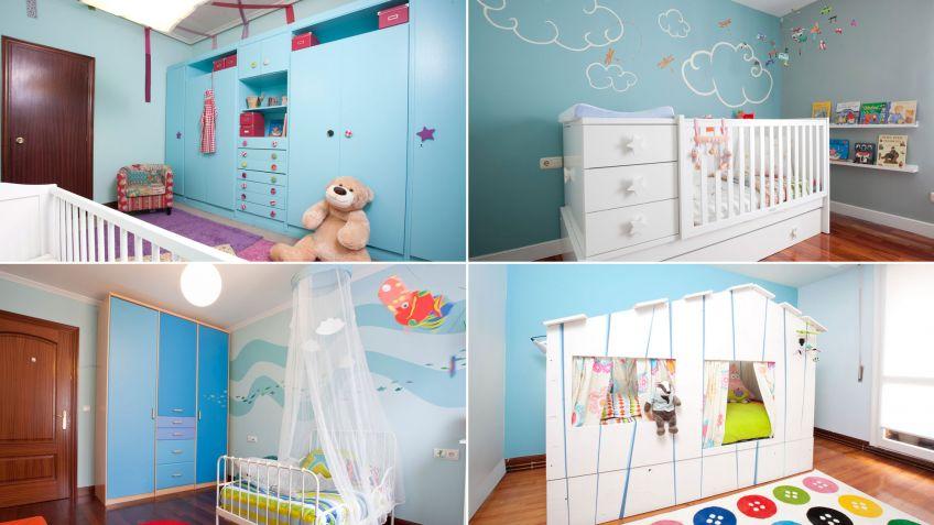 4 dormitorios infantiles de color azul Hogarmania