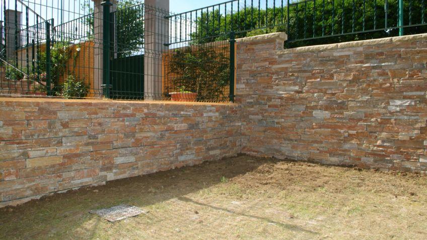 Paredes de piedra natural stunning piedra natural laja - Paneles para paredes exteriores ...