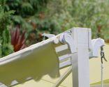 Hacer un soporte con toldos para una hamaca