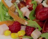 Ensalada de roquefort y frambuesa