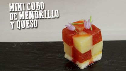 Mini cubo de membrillo y queso