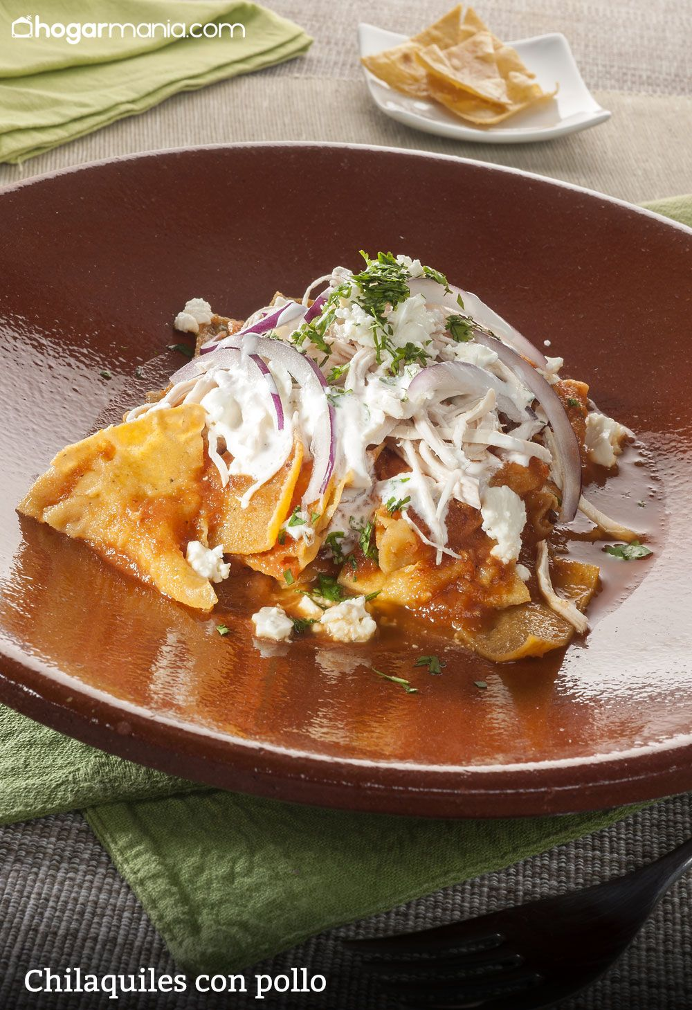 Chilaquiles con pollo