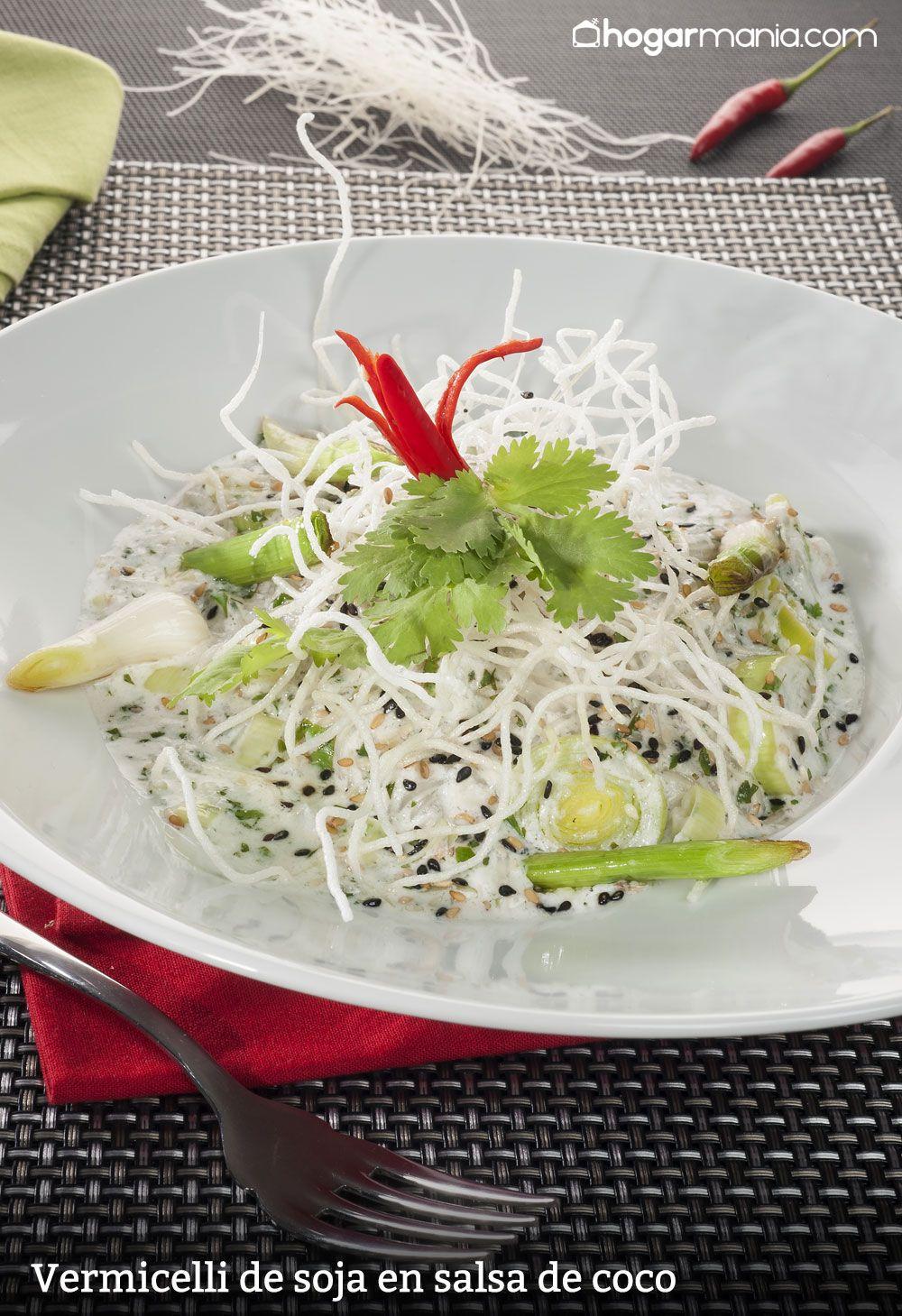 Vermicelli de soja en salsa de coco