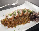 Superfoods: Lomo de cordero con trigo y algas salteadas