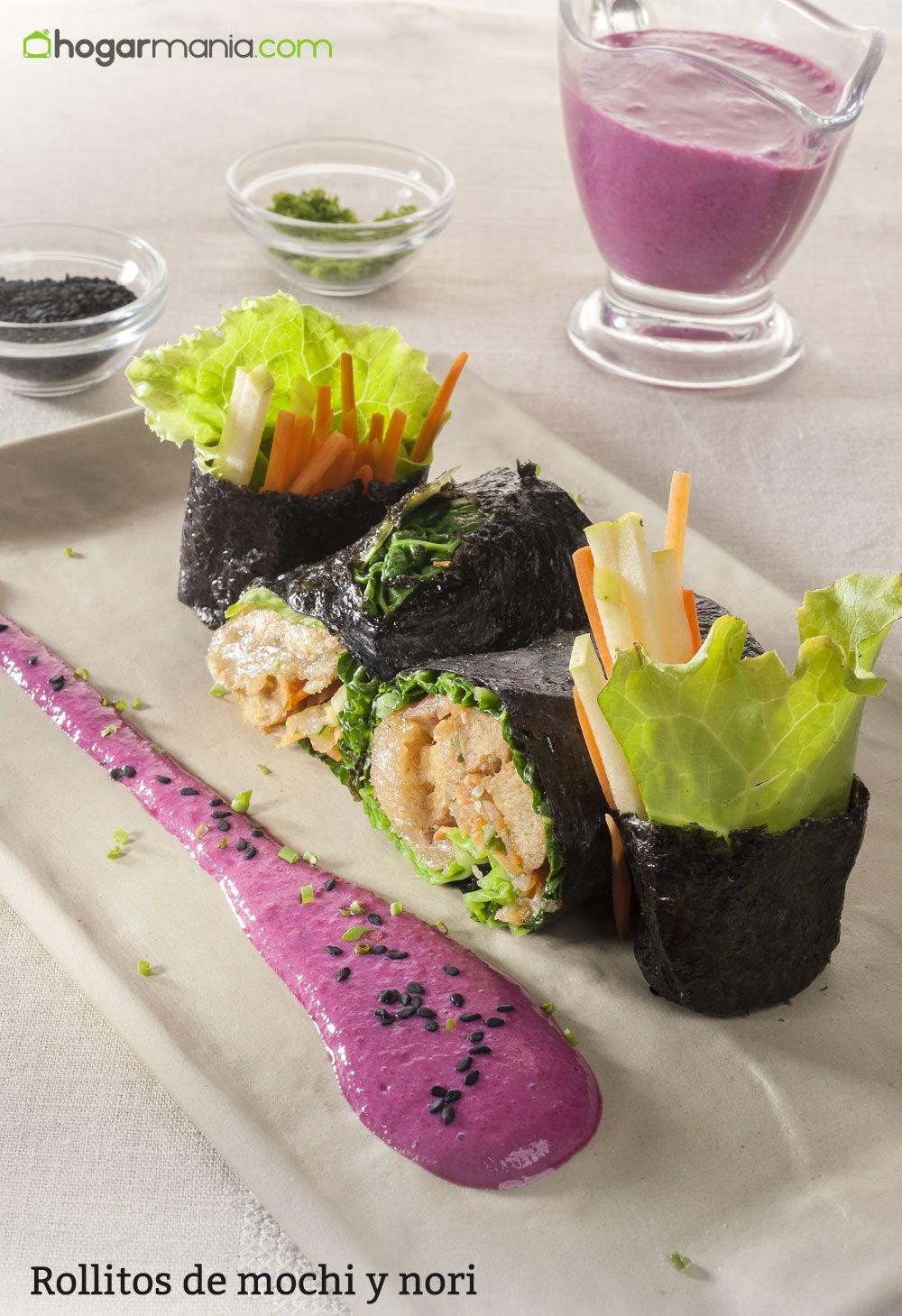 Rollitos de mochi y nori