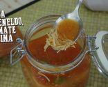 Sopa de eneldo, tomate y lima