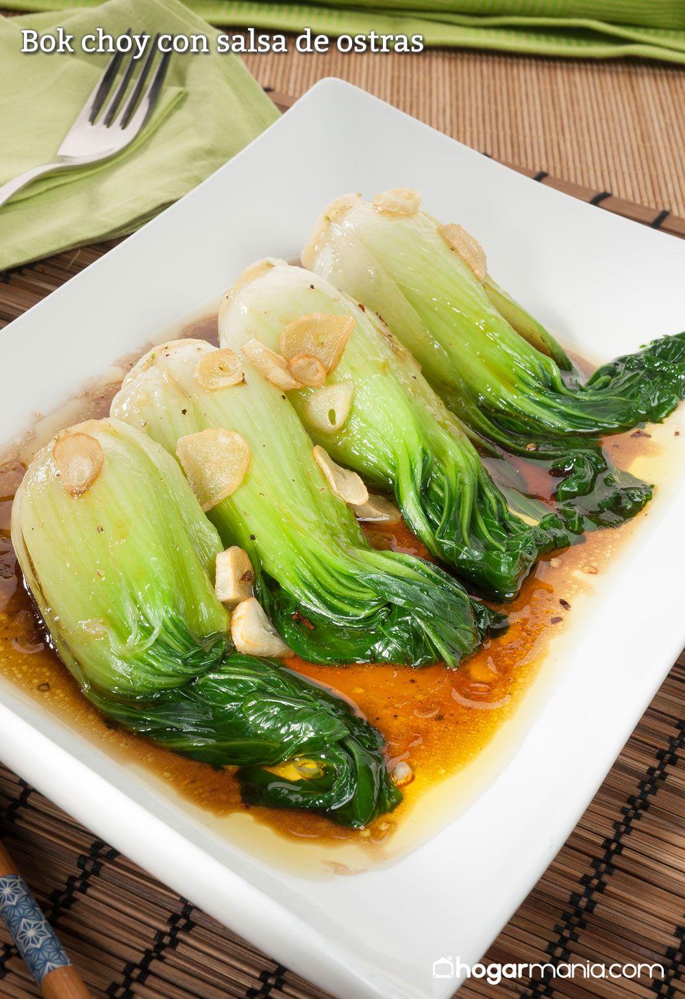 Bok choy con salsa de ostras