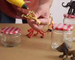 Decorar tapas de tarros de cristal con muñecos