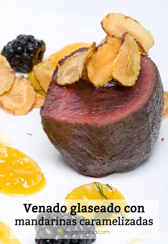 Receta de Venado glaseado con mandarinas caramelizadas