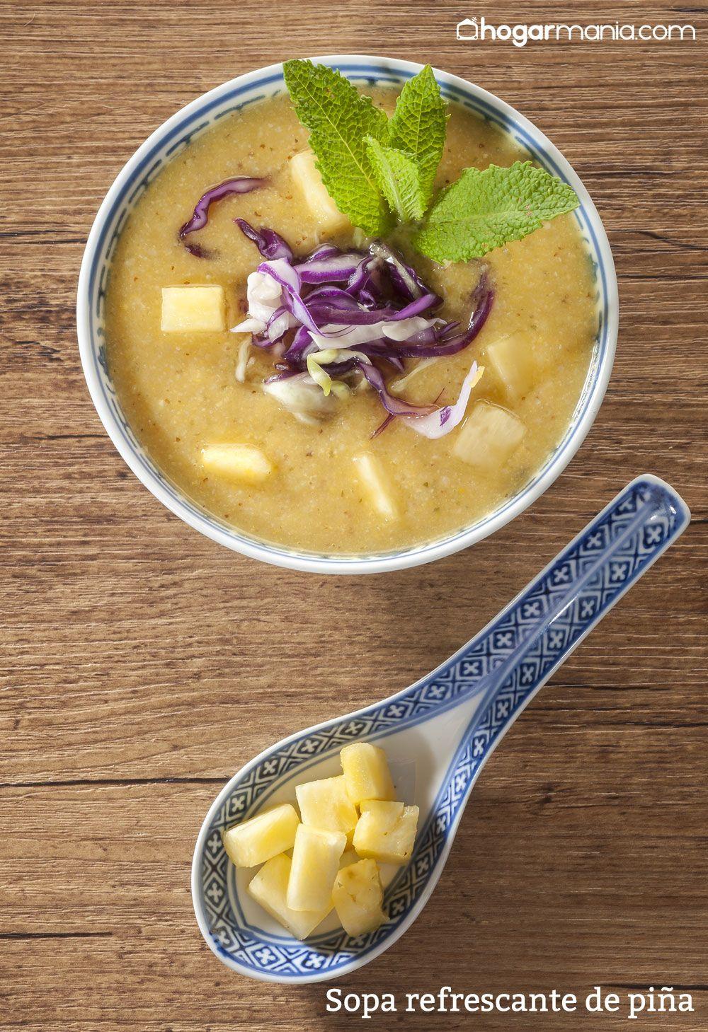 Sopa refrescante de piña