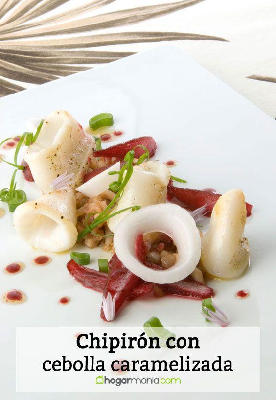 Receta de Chipirón con cebolla caramelizada