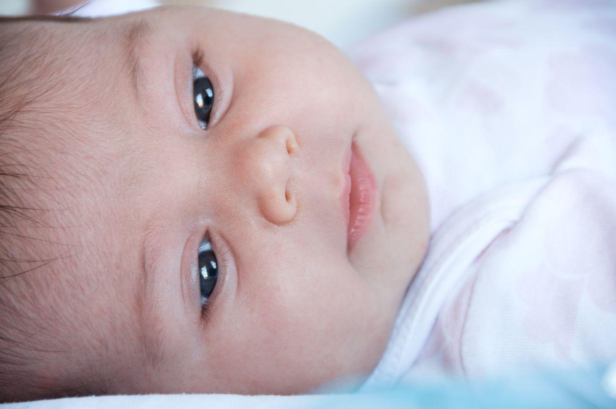 El color de ojos del bebé o recién nacido2