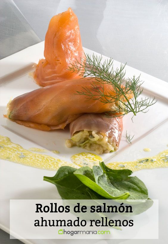 Receta de Rollos de salmón ahumado rellenos