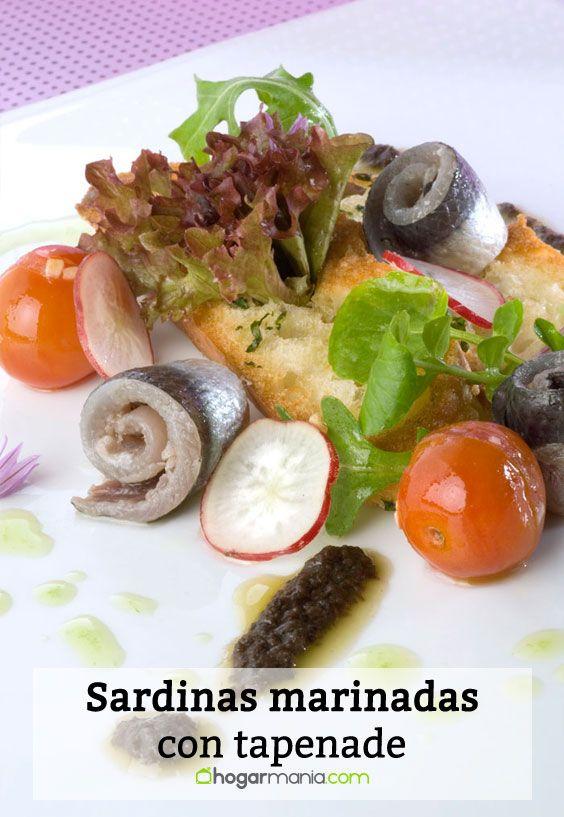 Receta de Sardinas marinadas con tapenade