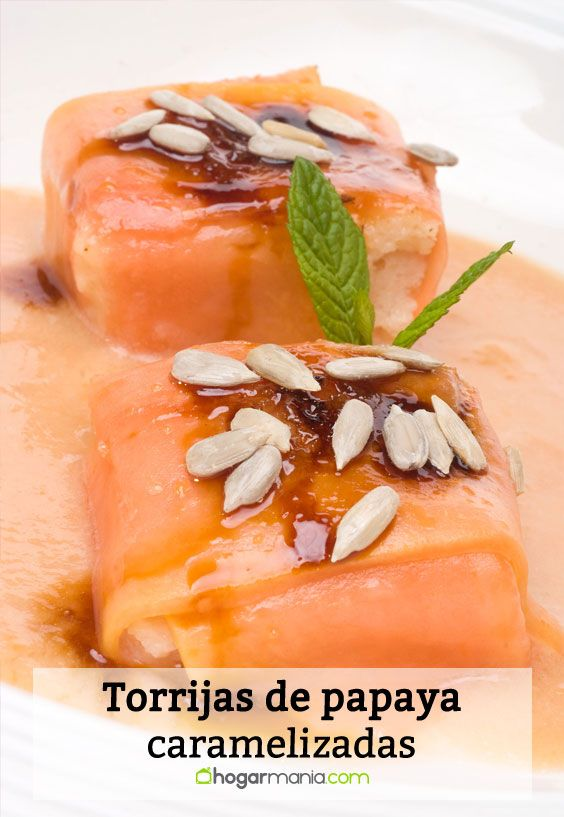 Receta de Torrijas de papaya caramelizadas