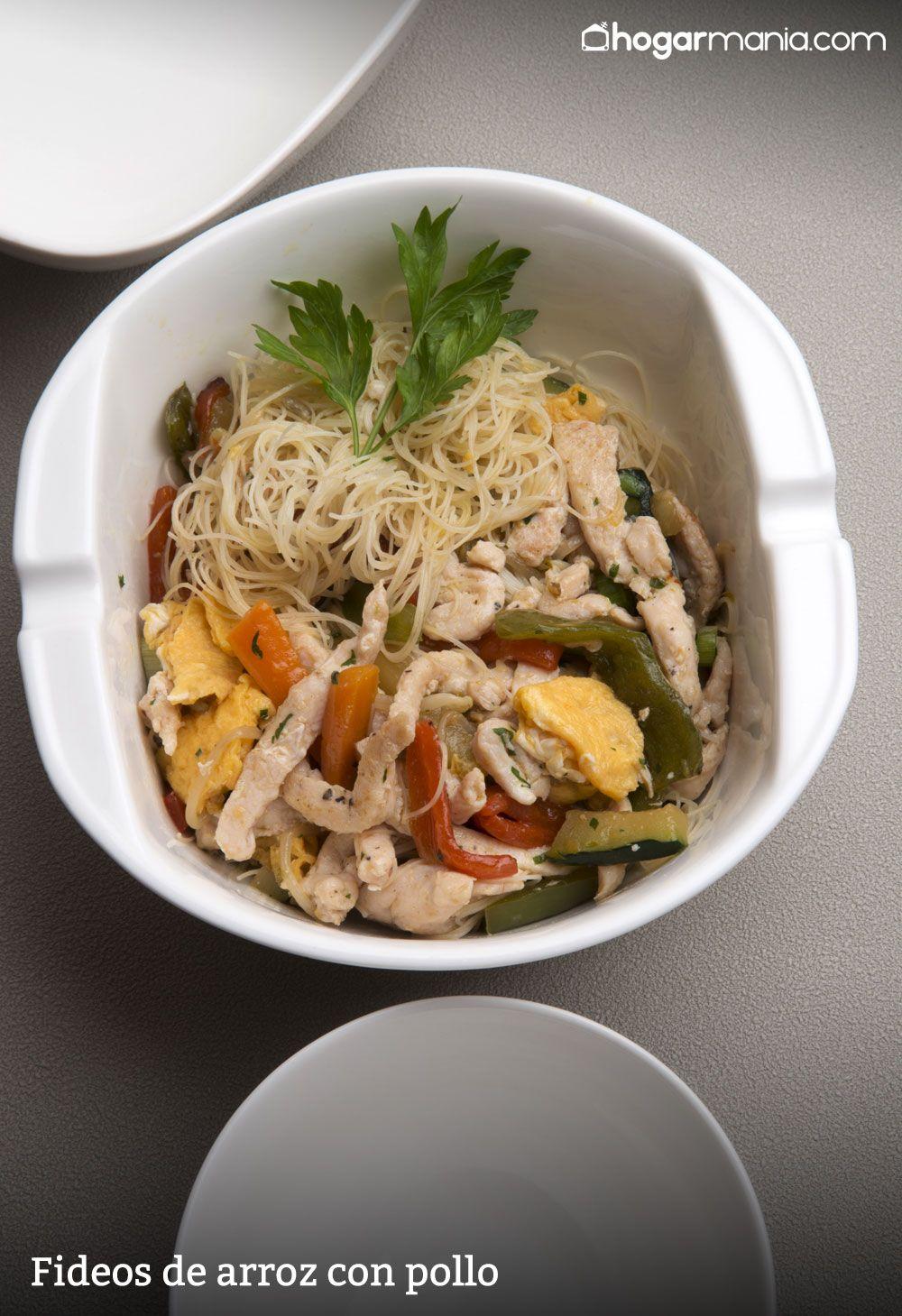 receta de fideos de arroz con pollo karlos argui ano
