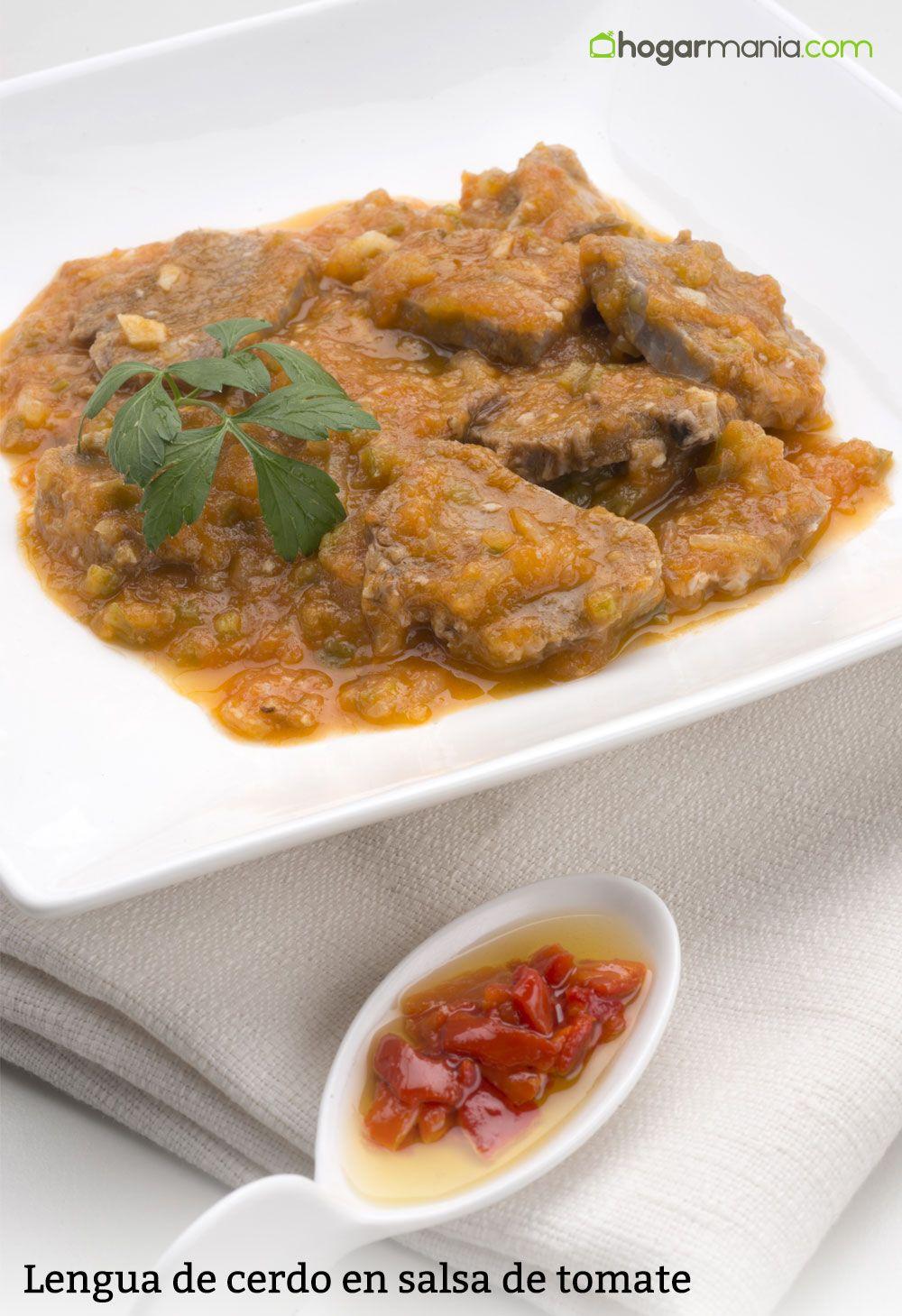 Lengua de cerdo en salsa de tomate