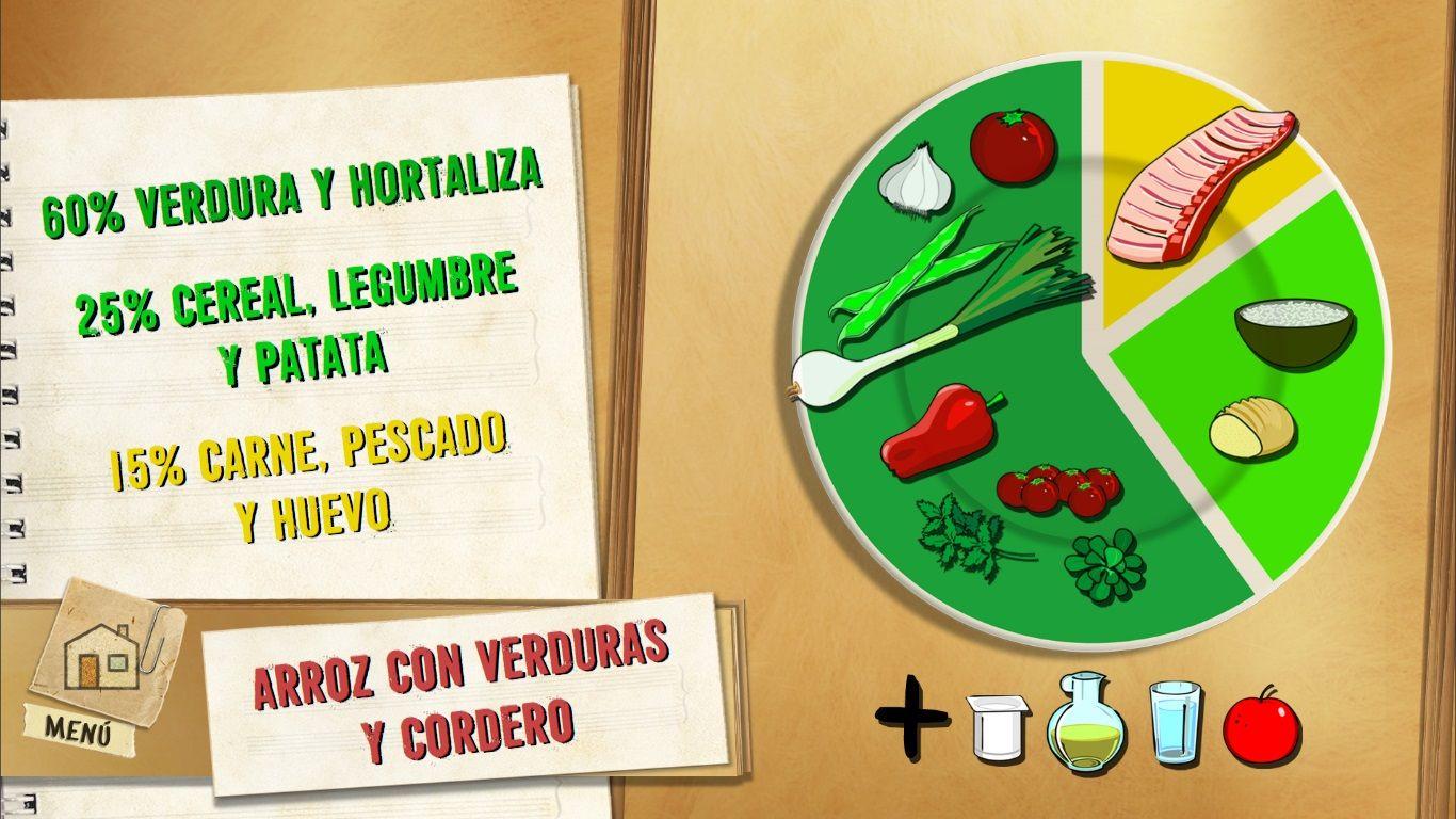 Arroz con verduras y cordero