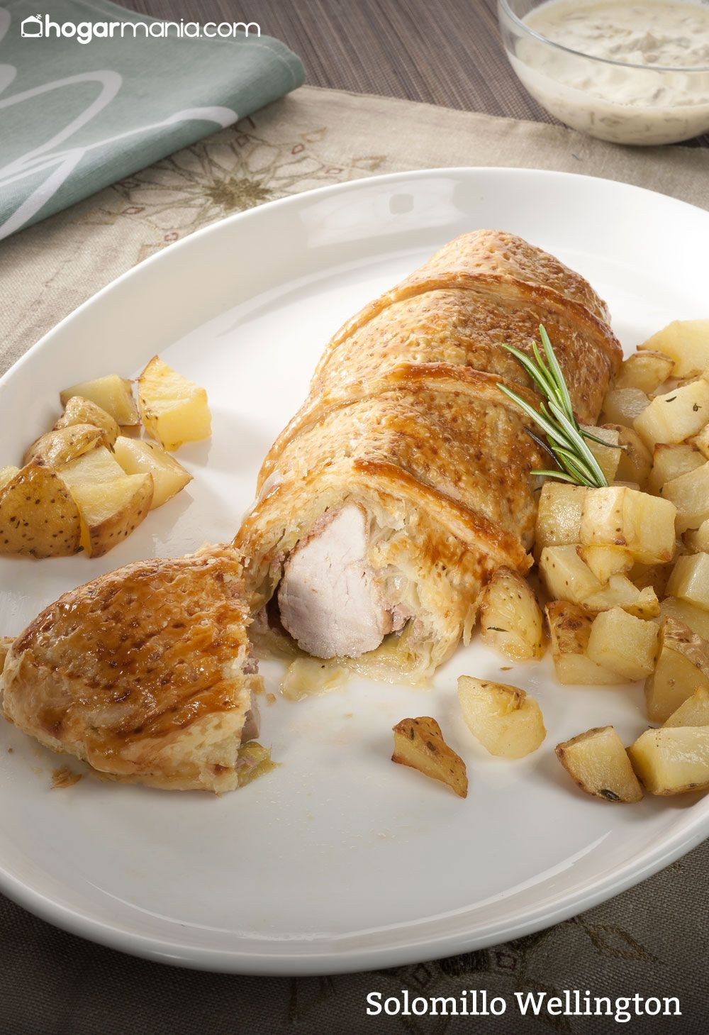 Solomillo Wellington con patatas asadas