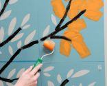 Cómo pintar un árbol en la pared con plantillas