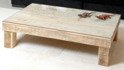 Mesa de centro decorada con la t cnica collage hogarmania - Como hacer una mesa de centro ...