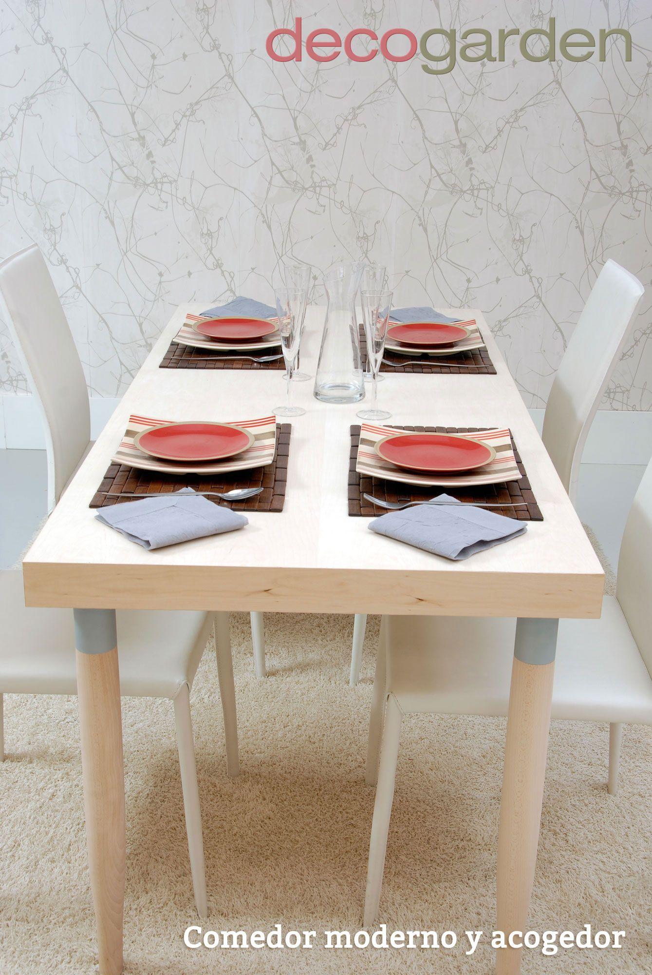 Comedor moderno y acogedor