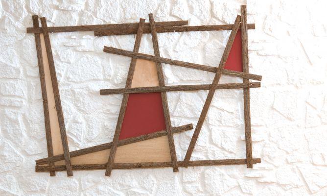 C mo hacer un cuadro con cortezas y chapas de madera - Decogarden cuadros ...