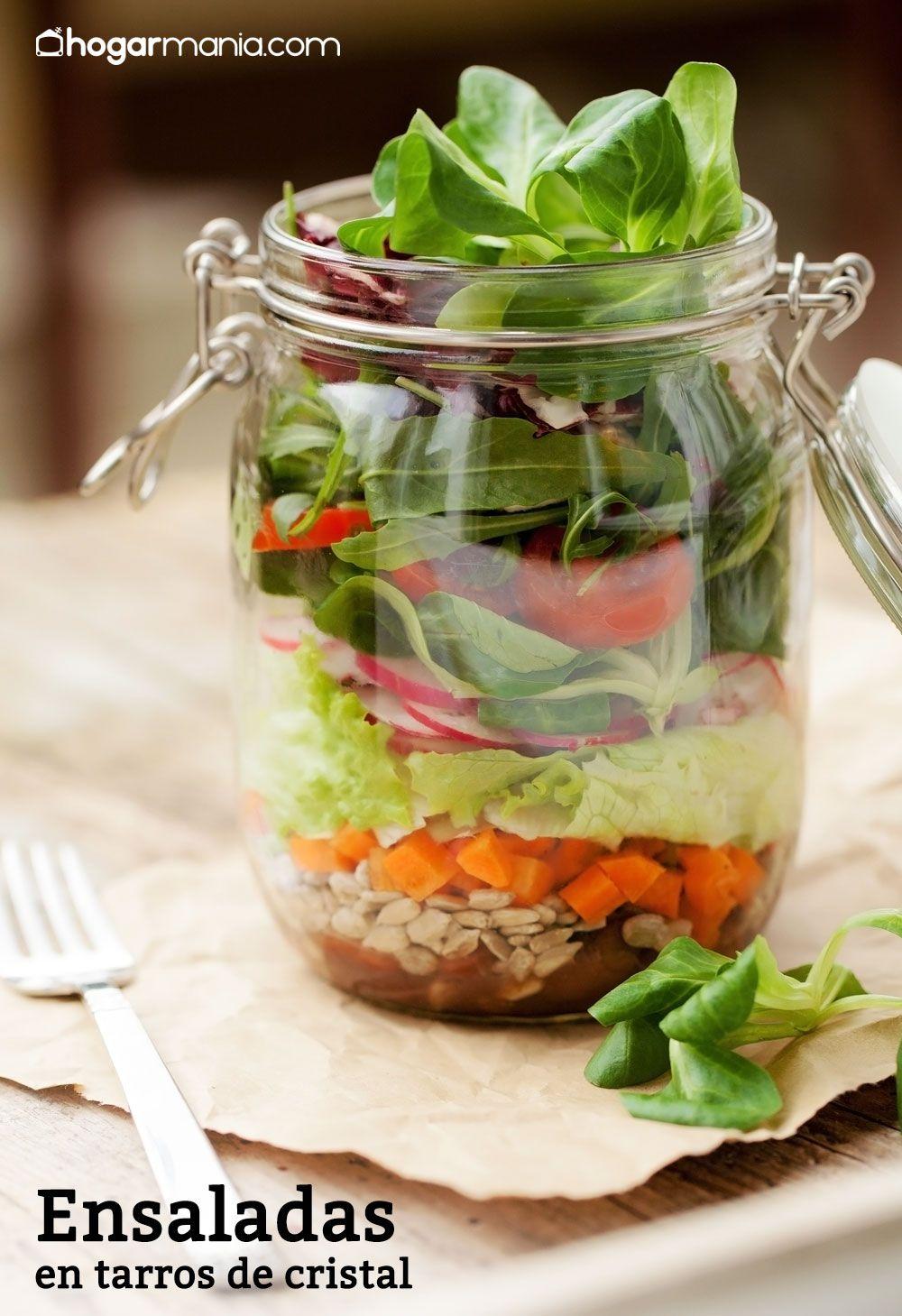 12 ensaladas en tarro de cristal para comer fuera de casa