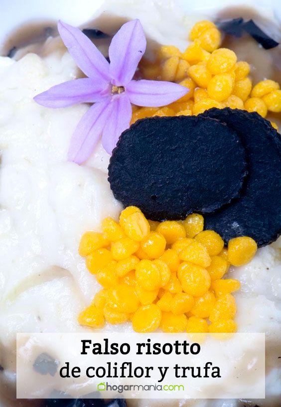 Receta de Falso risotto de coliflor y trufa