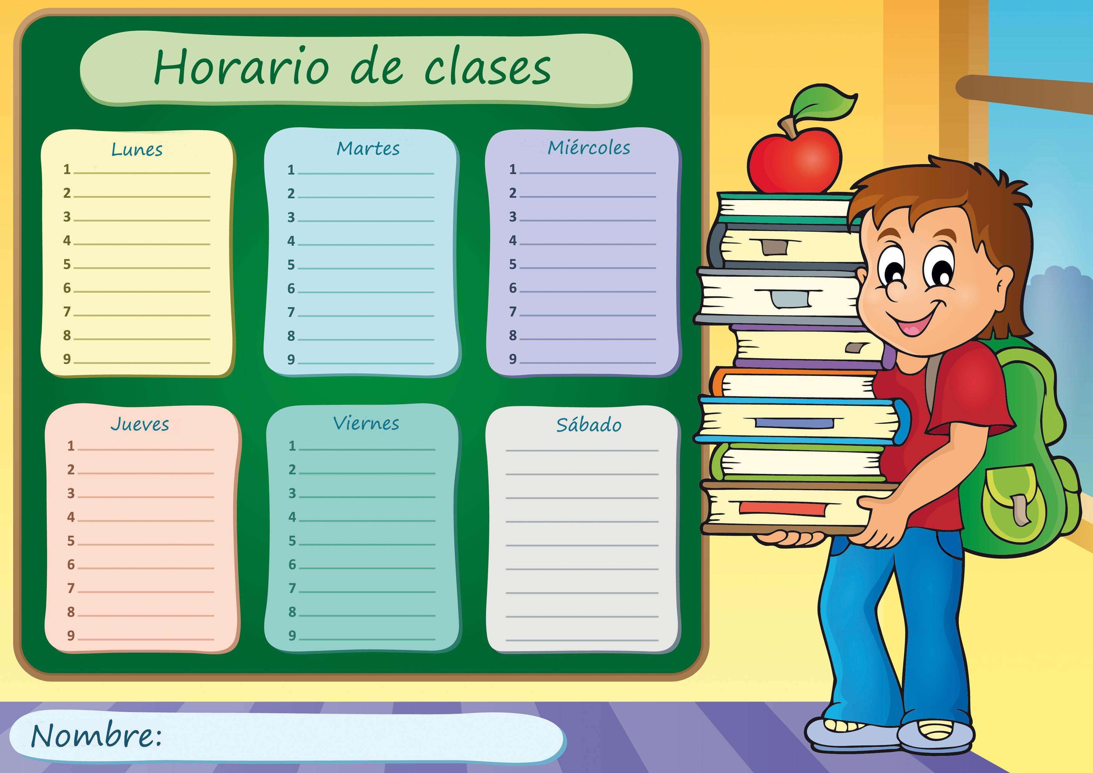 Tabla para horario de clases