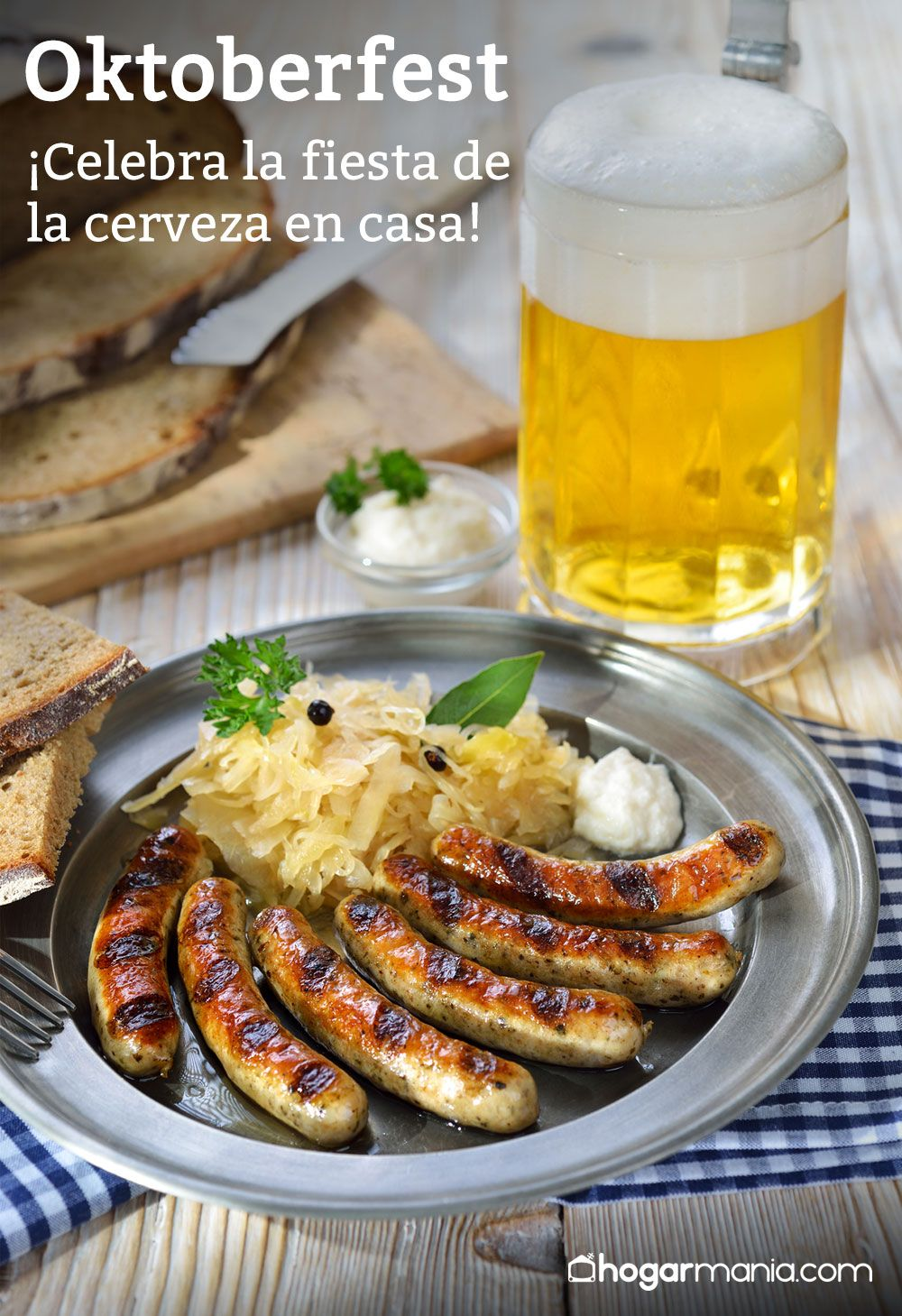 Oktoberfest, menú para celebrar la fiesta de la cerveza en casa