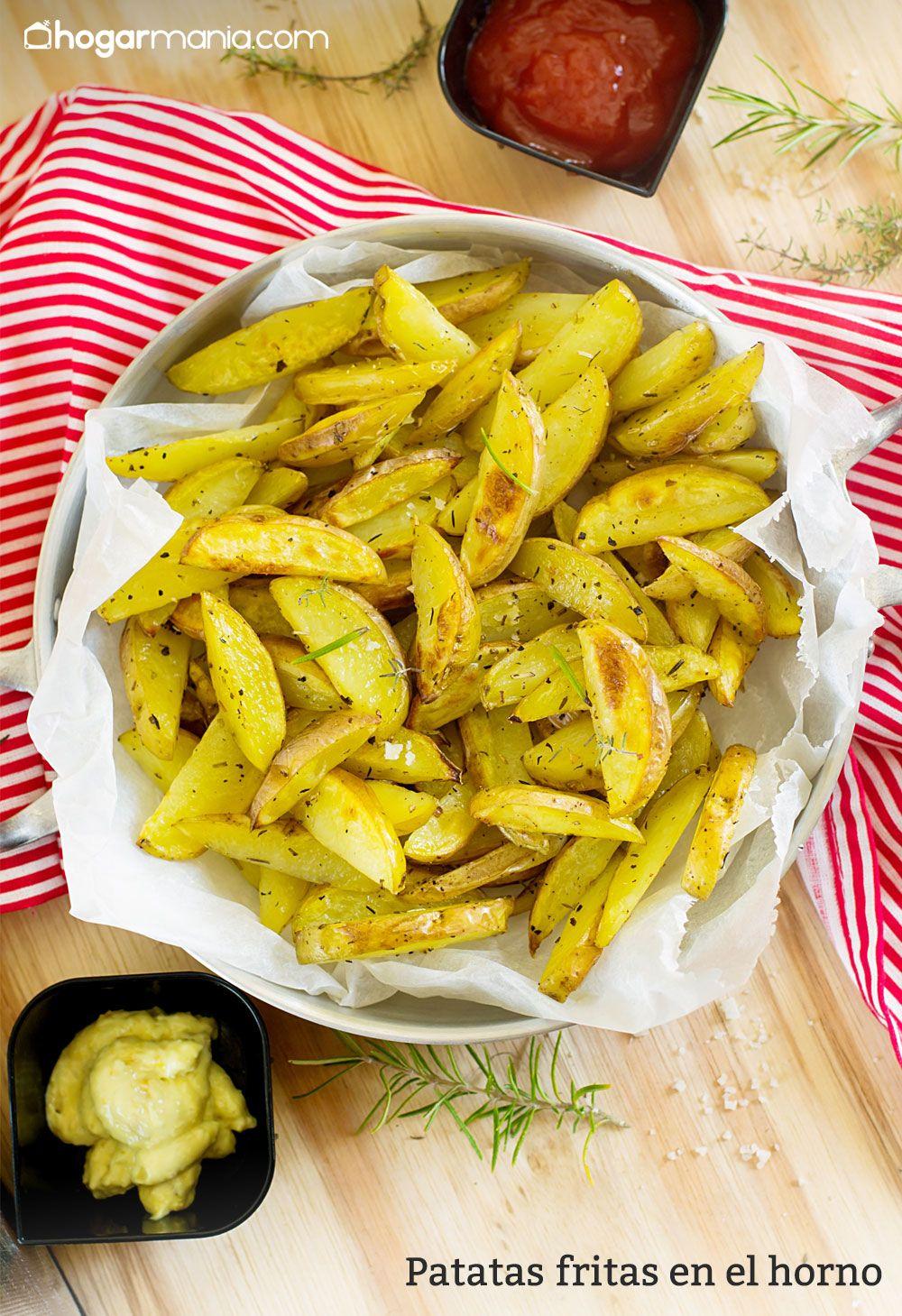 Patatas fritas crujientes en el horno