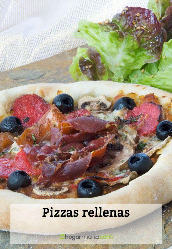 Receta de pizzas rellenas