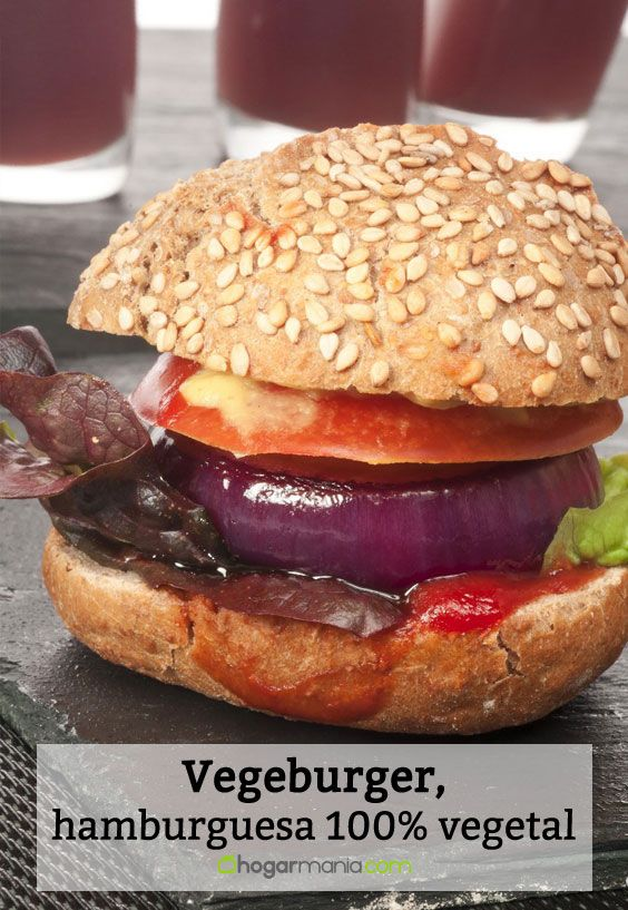 Receta de vegeburger, hamburguesa 100% vegetal