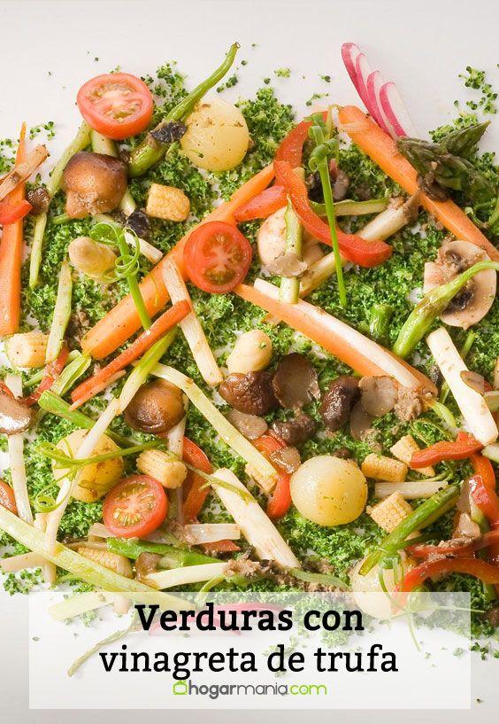 Receta de Verduras con vinagreta de trufa