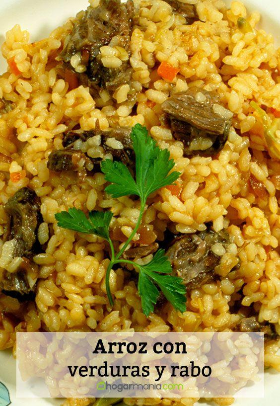 Receta de arroz con verduras y rabo