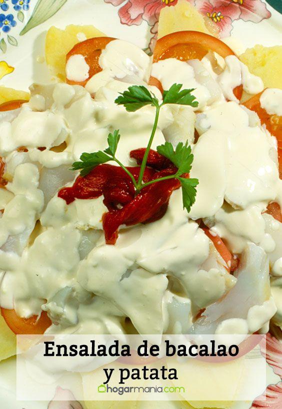 Receta de ensalada de bacalao y patata