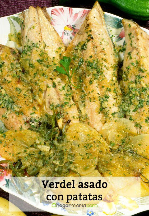 Receta de Verdel asado con patatas