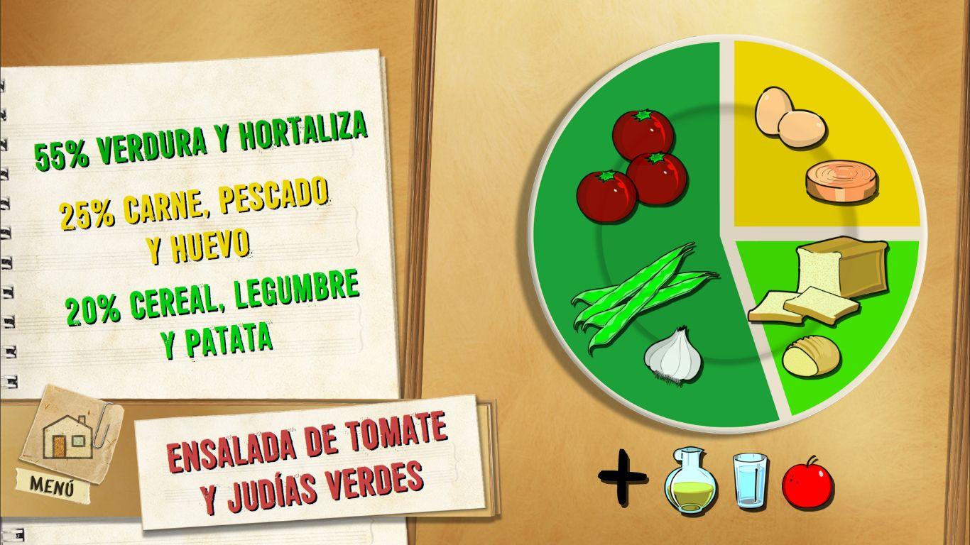 Ensalada de tomate y judías verdes