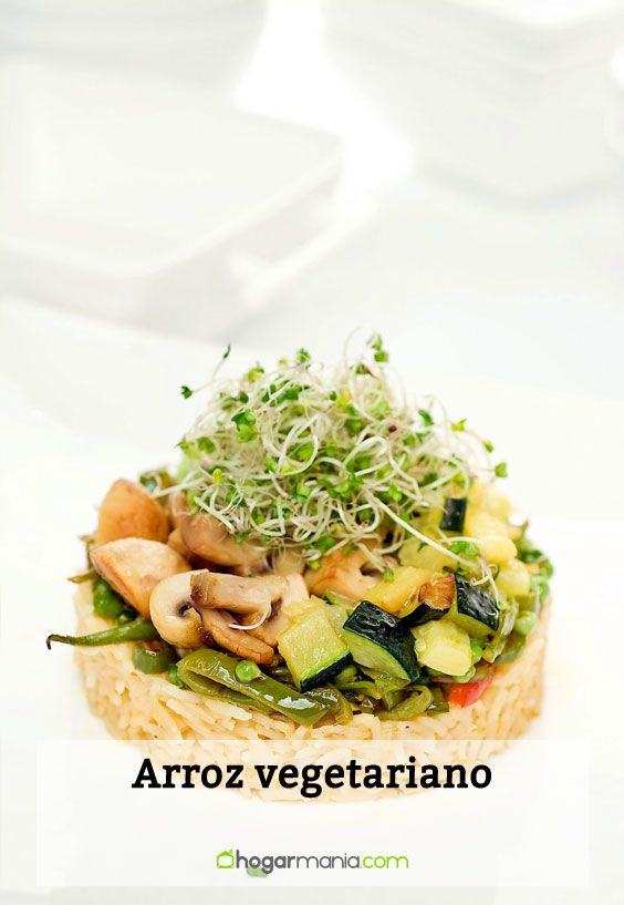 Receta de arroz vegetariano