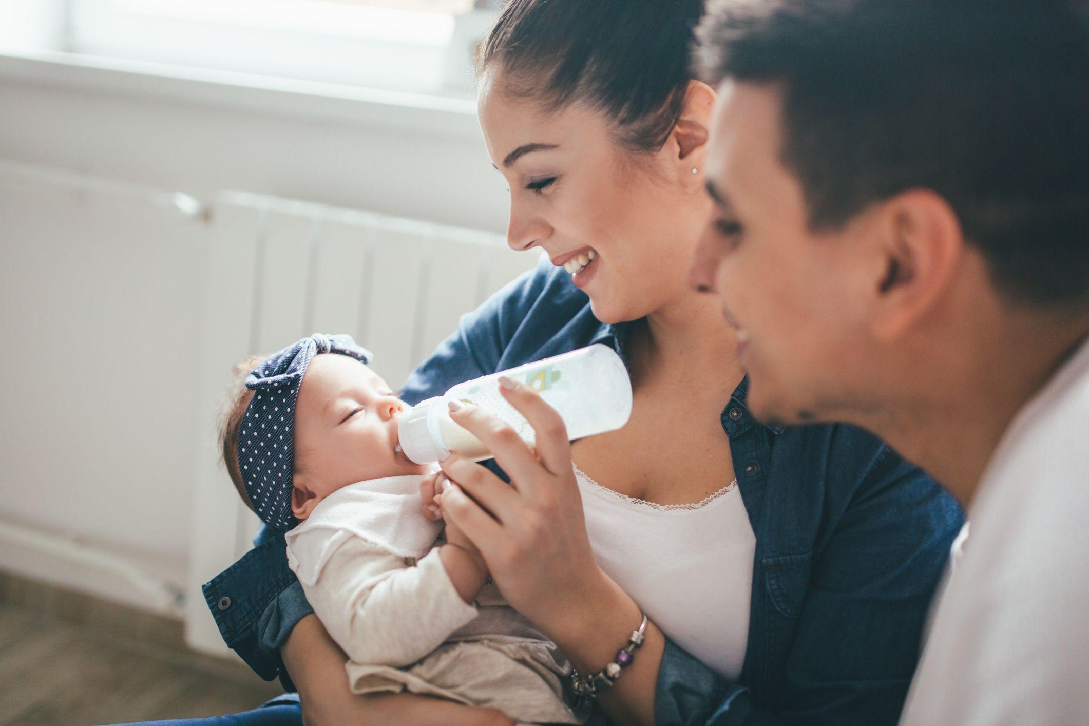 Biberón para el bebé