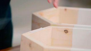 Cómo hacer baldas hexagonales