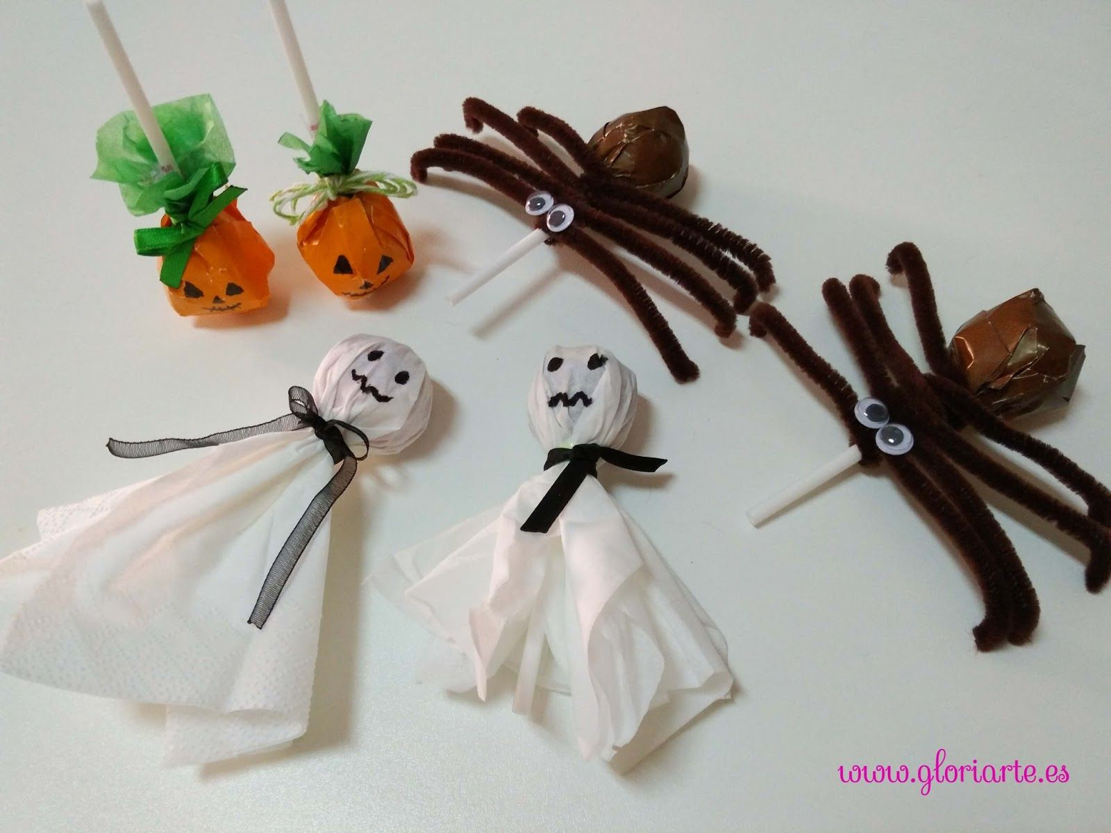 Ideas para decorar caramelos en Halloween