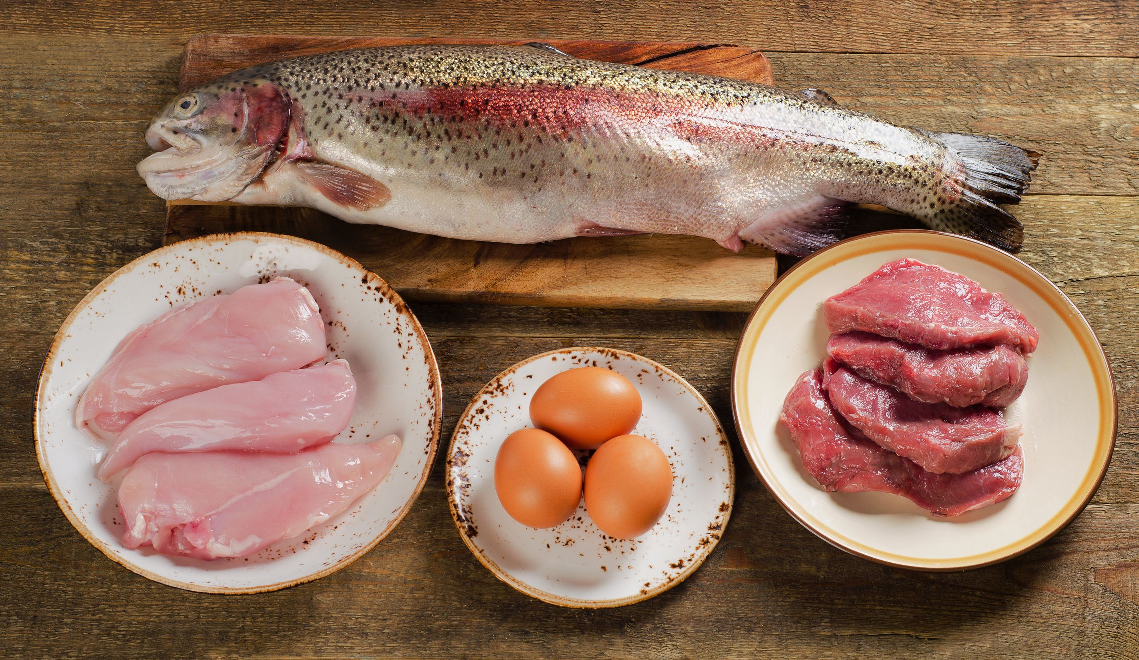 carne, pescados, huevos