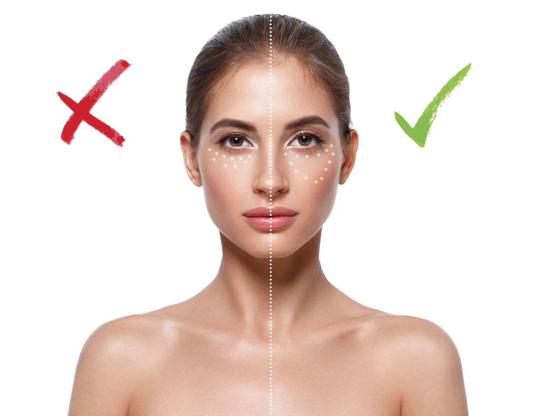 corrector maquillaje zonas