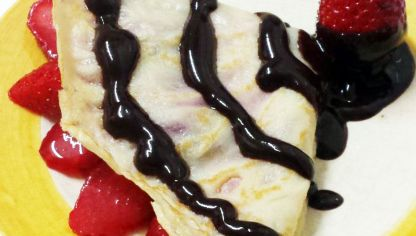 Crepes de fresas con chocolate