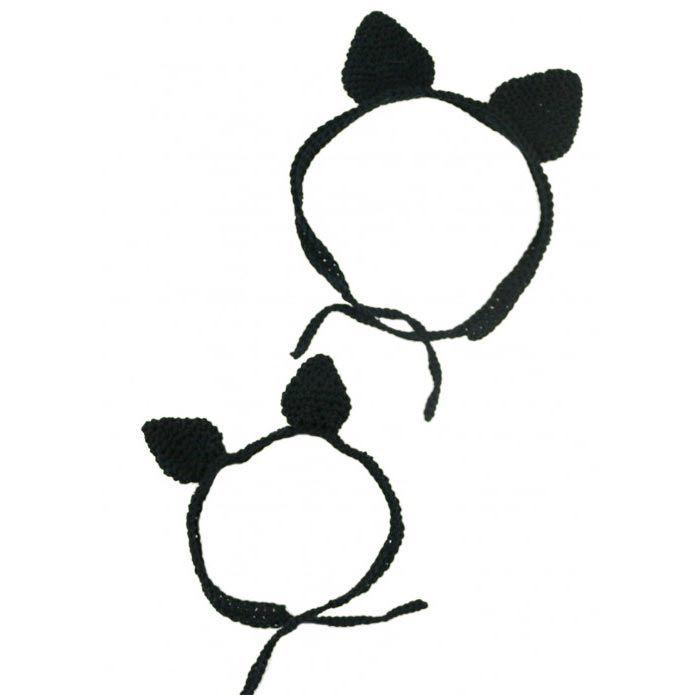 Cómo tejer diadema con orejas de gato de crochet