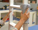 Cómo hacer un escritorio con una escalera