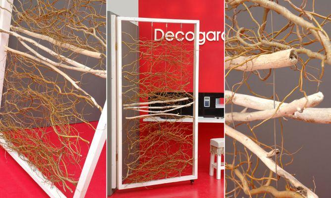 C mo hacer un separador de ambientes con ramas decogarden - Como hacer un separador de ambientes ...