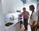 Integrar salón comedor colorido con cocina